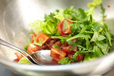 Vegetable salad in large bowl