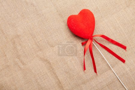 Photo for Heart on a stick for Valentine's day - Royalty Free Image