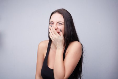 Photo for Young beautiful brunette girl laughing - Royalty Free Image
