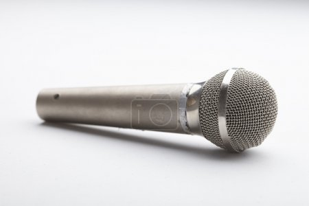 Wireless microphone close-up