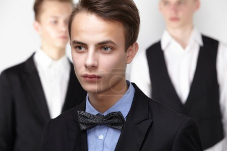 Photo for Young businessmen team having informal meeting - Royalty Free Image