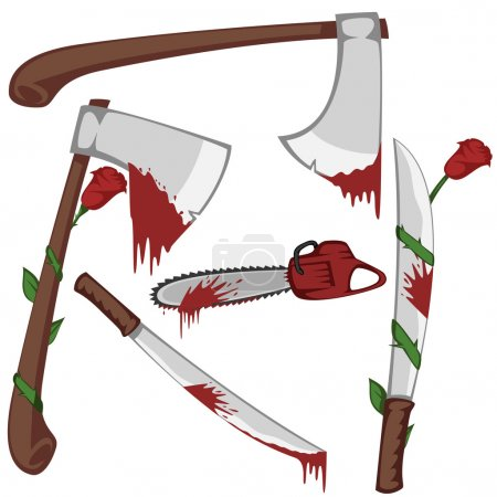 Bloody set of weapons