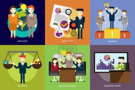 Photo pour Ensemble de grands concepts d'illustration de conception d'icônes plates pour les entreprises, la finance, le marketing, le marketing Internet et le commerce électronique, promo, web, et bien plus encore. L'ensemble peut être utilisé à plusieurs fins telles que : sites Web, modèles d'impression, modèles de présentation, pro - image libre de droit