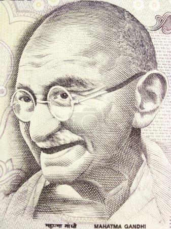 Махатма Ганди на банкноты
