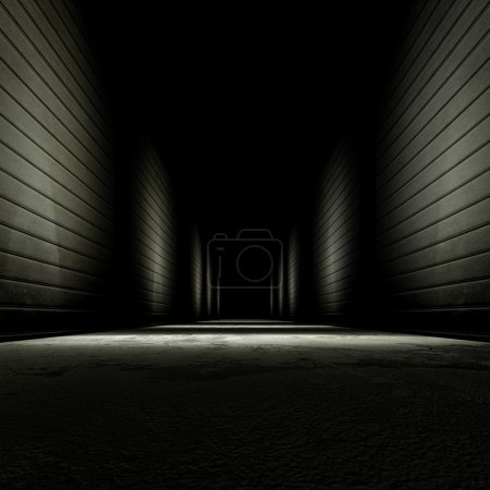 Photo for 3d rendering background dark alley. - Royalty Free Image