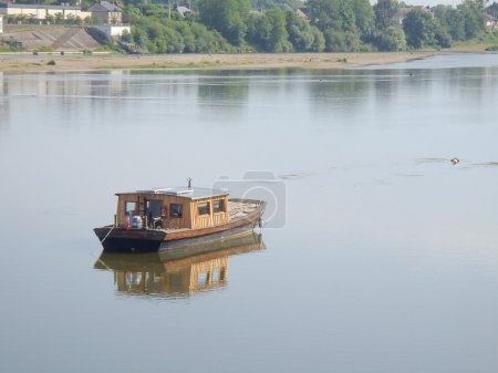 Fishing boat on the river Loire