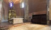Pavia, San Michele Maggiore marble altar offers.