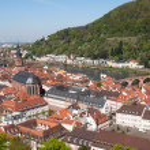 Heidelberg, Germany: City view from the Koenigstuh...
