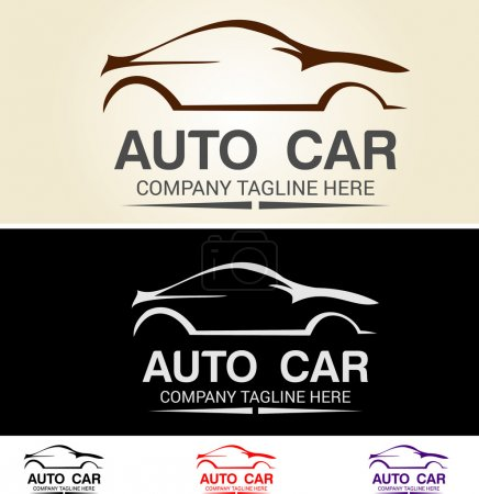 Illustration for Various graphic cars, easy customized, great for car logo base, racing team and automotive related. - Royalty Free Image