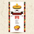 Vector design template for Mexican restaurant. Mexican food