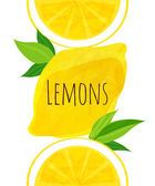 Poster with yellow lemonsvector illustration