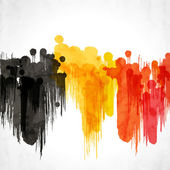 Abstract artistic background forming by blots EPS10