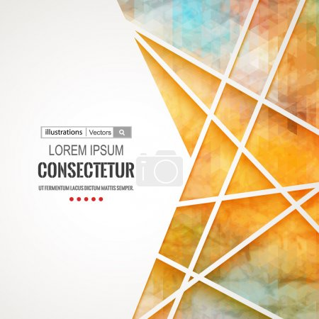 Illustration for Abstract vector colorful geometric background with polygons. - Royalty Free Image