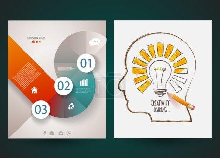 Design of progress bar, loading creativity.