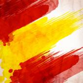 Bright hand drawn watercolor Spain flag
