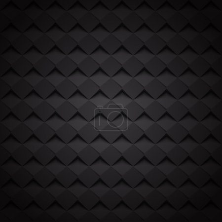 Illustration for Black texture Background . Vector Illustration for you design. geometric pattern - Royalty Free Image