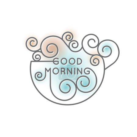 Good morning decorative inscription