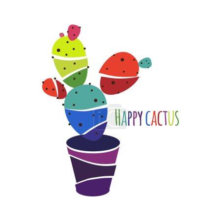 Funny cartoon cactus