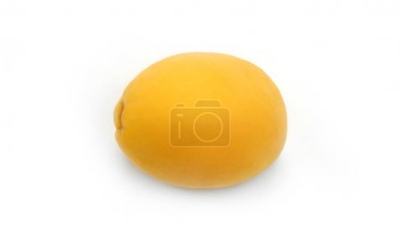 Apricot on a white background. Slices of apricot. ...
