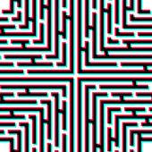 Maze 3D effect Abstract vector background with a maze
