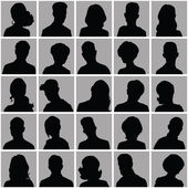 Avatars of silhouettes with different hairstyles