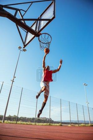 Training basketball outdoors
