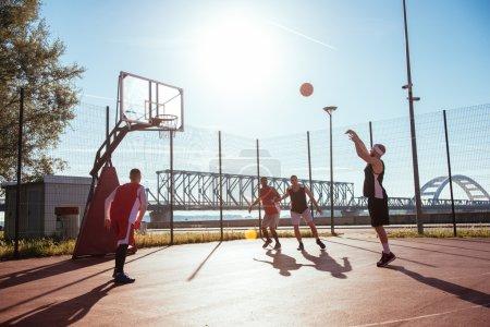 Free throw on court