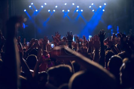 Raising their hands in the air