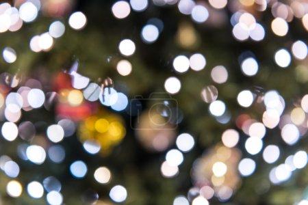 Defocused christmas glitter