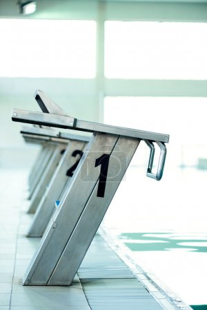 Starting blocks in a row