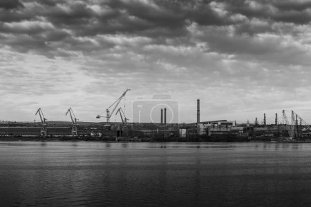 Industrial city area