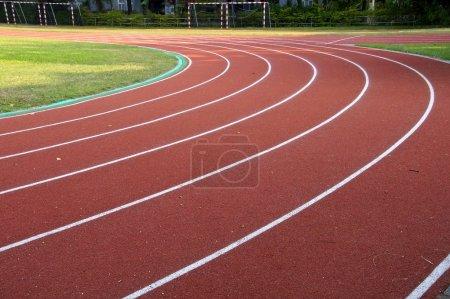 The running track closeup