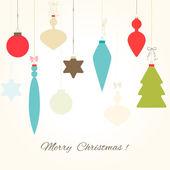 Karta s vánoční koule