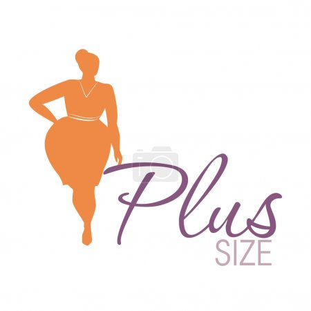 Plus size woman icon