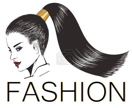 girl with stylish shiny ponytail