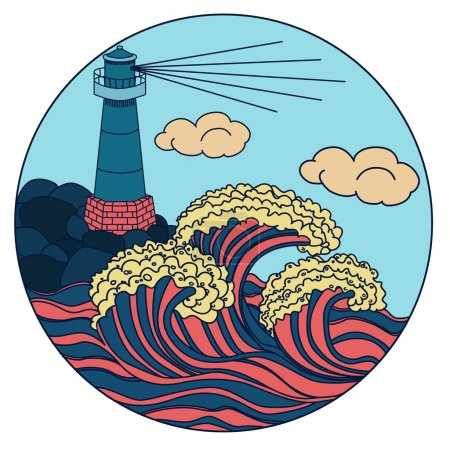 lighthouse colored icon