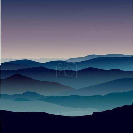 Landscape mountain view