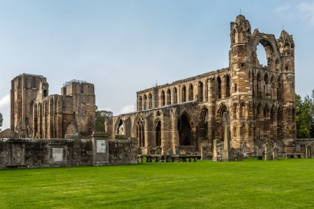 Three quarter view of Elgin cathedral in northern Scotland