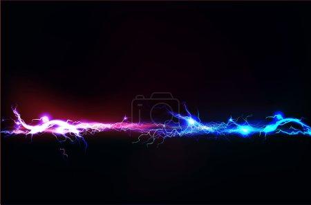 Photo pour Fond abstrait fait d'effet d'éclairage électrique - image libre de droit
