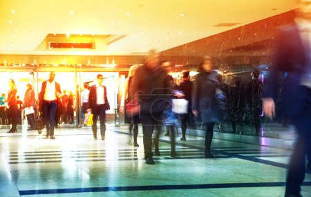 Business people blur. People walking in rush hour. Business and modern life concept