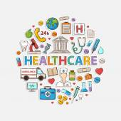 Health care set in the form of a circle