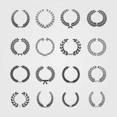 Set of wreaths,wheat circular laurel heraldry reward achievemen