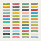 Vector Web  color buttons in flat stile isolated on a with backg