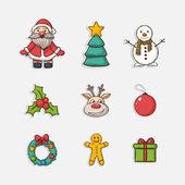 Vector Christmas set icons