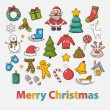 Постер, плакат: Vector Happy New Year and Merry Christmas set