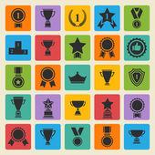 Big vector set black avards  icons