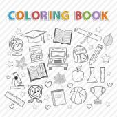 Vector coloring book.Education.