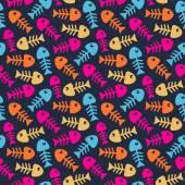Bright fish bones pattern