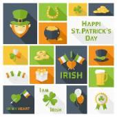 Saint Patricks Day icons set