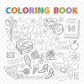 Coloring bookFebruary set